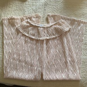 boho festival / beach crochet cover up sheer pants